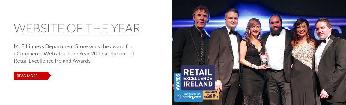 mcelhinneys.com wins REI award for eCommerce Website of the Year 2015